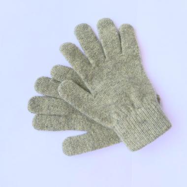 Шерстяные перчатки для девочки (фисташка), 8-12 лет