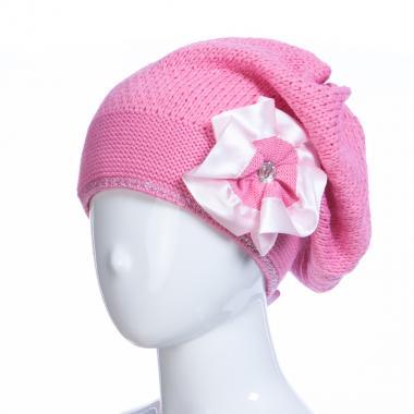Зимняя шапка HILLTOP для девочки Брошь (темно-розовый), 8-12 лет