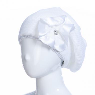 Зимняя шапка HILLTOP для девочки Брошь (белый), 8-12 лет