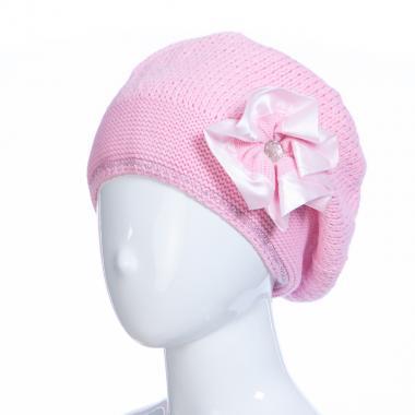 Зимняя шапка HILLTOP для девочки Брошь (розовый), 8-12 лет