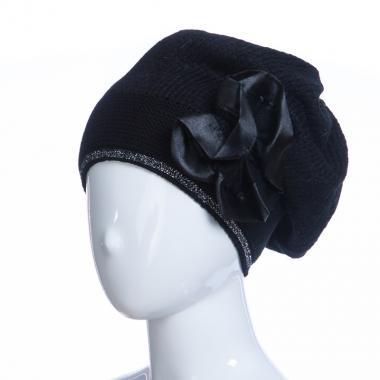 Зимняя шапка HILLTOP для девочки Брошь (черный), 8-12 лет