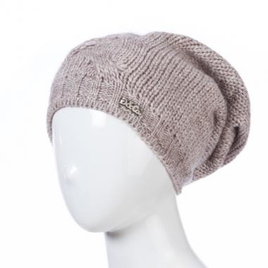 Зимняя шапка GRANS для девочки Коса (капучино), 10-15 лет