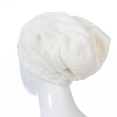 Зимняя шапка GRANS для девочки Коса (белый), 10-15 лет