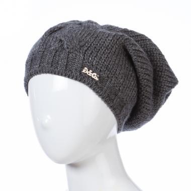 Зимняя шапка GRANS для девочки Коса (темно-серый), 10-15 лет