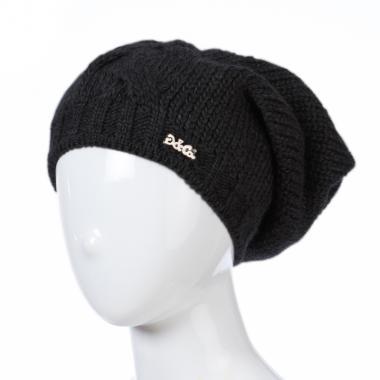 Зимняя шапка GRANS для девочки Коса (черный), 10-15 лет