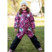 Демисезонный комбинезон STELLA KIDS для девочки PEONY (белый/фуксия), 3-6 лет