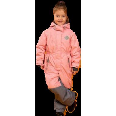 Демисезонный комбинезон STELLA KIDS для девочки MAKI (персик), 3-6 лет