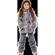 Демисезонный комплект STELLA KIDS для девочки ПИОН (серый), 4 - 9 лет