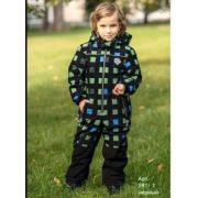 Демисезонный комбинезон STELLA KIDS для мальчика MATRIX (черный), 3-6 лет