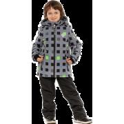 Демисезонный комплект STELLA KIDS для мальчика  МАТРИЦА (серый), 4 - 9 лет