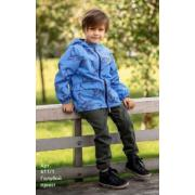 Ветровка STELLA KIDS для мальчика ПАРУС (голубой принт), 2-6 лет