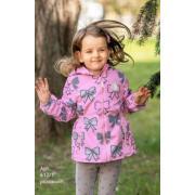 Ветровка STELLA KIDS для девочки БАНТ (розовый), 2-6 лет