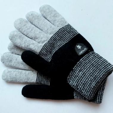 Теплые перчатки для мальчика VACSS (черный/серый), 8-12 лет