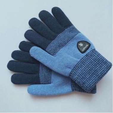 Теплые перчатки для мальчика VACSS (синий), 8-12 лет