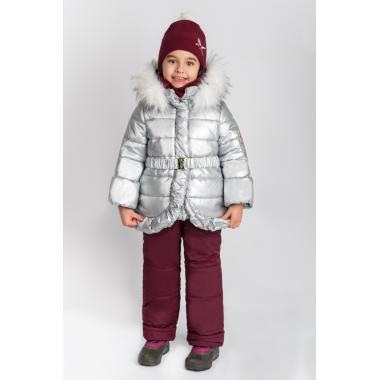 Купить Зимний комплект Boom by Orby для девочки (серебро/бордо), 2-7 лет