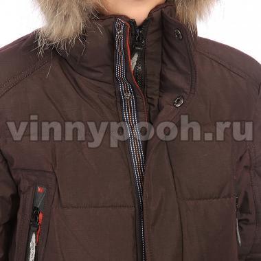 Зимняя куртка KIKO для мальчика ГЛЕБ (шоколад), 9-14 лет