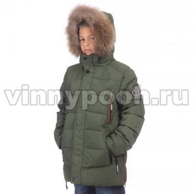 Зимняя куртка KIKO для мальчика ГЛЕБ (зеленый), 9-14 лет