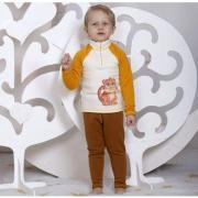 Термокостюм BONDINI плотный Леопард (белый/горчица), 1-5 лет