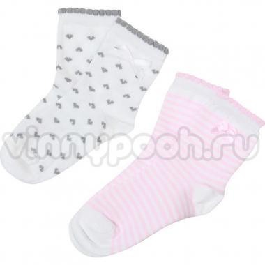 Хлопковые носки Наследник для девочки Сердечки (микс), 3-10 лет
