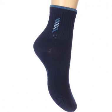Хлопковые носки REWON для мальчика с рисунком (темно-синие), 5-10 лет