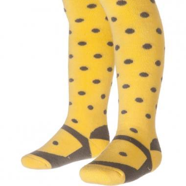 Колготы махровые Pattino Kids для девочки (желтые), 1-6 лет