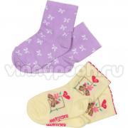 Хлопковые носки Наследник для девочки с рисунком (микс), 4-12 лет