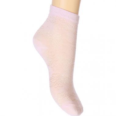 Ажурные носки REWON для девочки (розовые), 2-7 лет