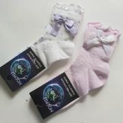 Носки жакккордовые ЛиВ девочки с бантиком (микс), 2-7 лет