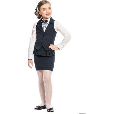 Жилет для девочки CHARMANTE (синий), 7-15 лет