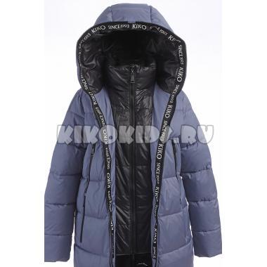 Зимнее пальто KIKO для девочки СЕЛЕНА (джинс), 9-14 лет