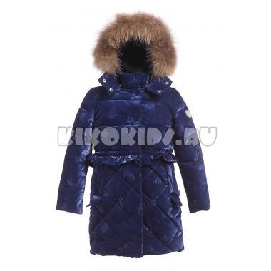 Зимнее пальто KIKO для девочки АГАТА (синий), 4-8 лет