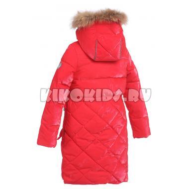 Зимнее пальто KIKO для девочки АГАТА (алый), 4-8 лет