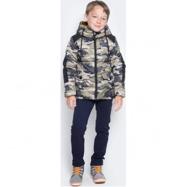 "Демисезонная куртка BOOM! by Orby для мальчика (хаки принт ""милитари""), 3-12 лет"