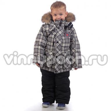 Комплект для мальчика с пуховой подстежкой Kiko (серый), 1-8 лет