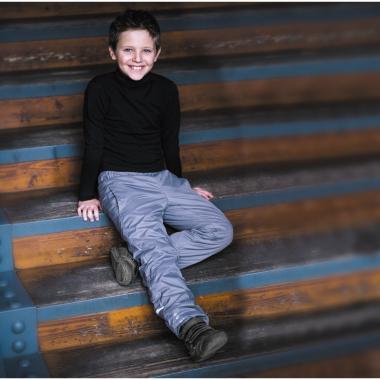 Брюки на флисе BOOM! by Orby для мальчика (серый), 1-13 лет