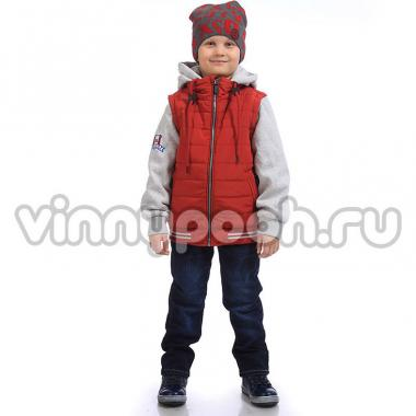 Модная весенняя куртка Kiko для мальчика (терракот), 7-10 лет