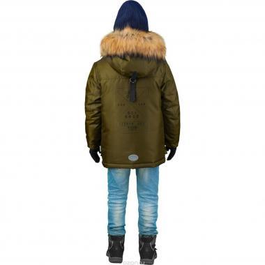 Зимняя куртка-парка Boom! by Orby для мальчика (хаки), 3-15 лет