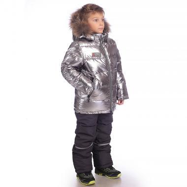 Зимний комплект Kiko для мальчика (серебро/серый), 4-8 лет