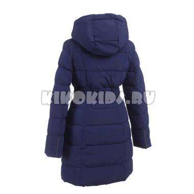 Зимнее пальто KIKO для девочки с шарфом ЕВГЕНИЯ (синий), 9-14 лет