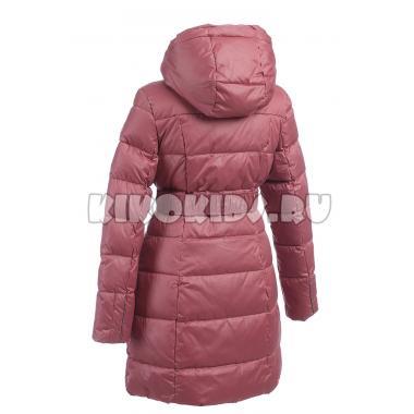 Зимнее пальто KIKO для девочки с шарфом ЕВГЕНИЯ (винный), 9-14 лет