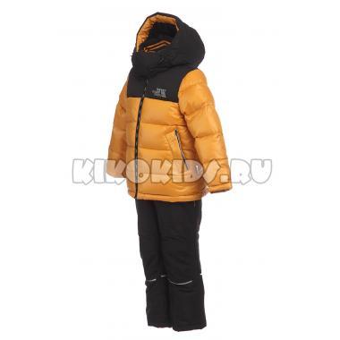 Зимний комплект Kiko для мальчика (горчица/черный), 3-8 лет