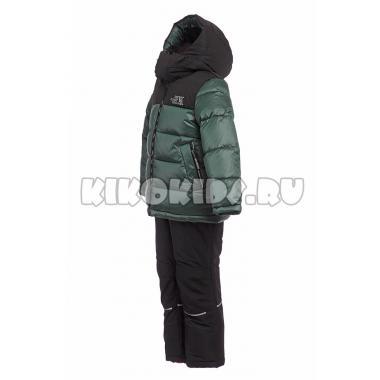 Зимний комплект Kiko для мальчика (зеленый/черный), 3-8 лет