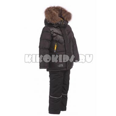 Зимний комплект Kiko для мальчика (черный/черный), 3-8 лет