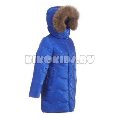 Зимнее пальто KIKO для девочки АРИНА (электрик), 5-9 лет