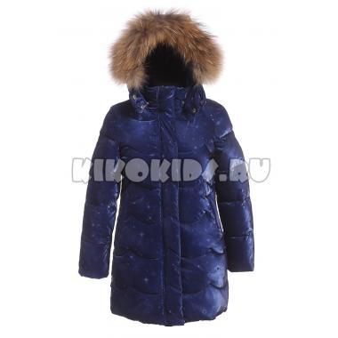 Зимнее пальто KIKO для девочки АРИНА (синий), 5-9 лет