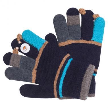 """Перчатки разноцветные для мальчика """"Барни"""" (черный), 3-6 лет"""