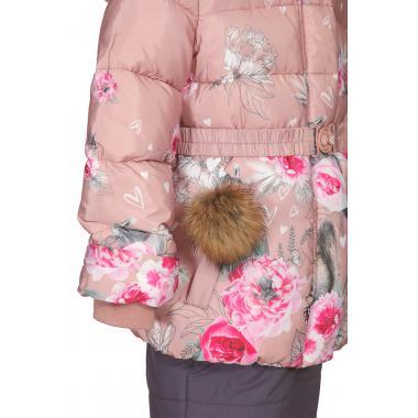Купить Зимний комплект КИКО для девочки (пудра/серо-синий), 5-8 лет