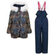 Зимний комплект Boom by Orby для девочки (синий), 2-7 лет