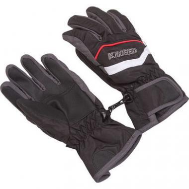 Перчатки комбинированные GLOBAL для мальчика (черный), 2-7 лет