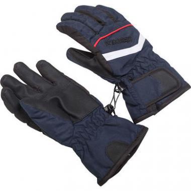 Перчатки комбинированные GLOBAL для мальчика (синий), 2-7 лет